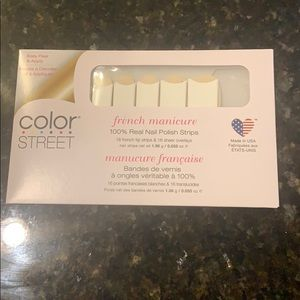 French Manicure color street nails